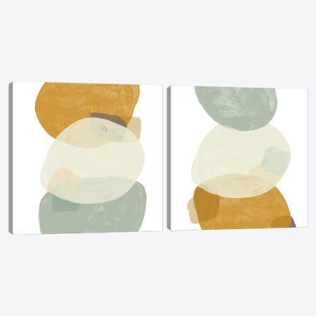 Platelet Diptych II Canvas Print Set #JEV2HSET003} by June Erica Vess Canvas Artwork