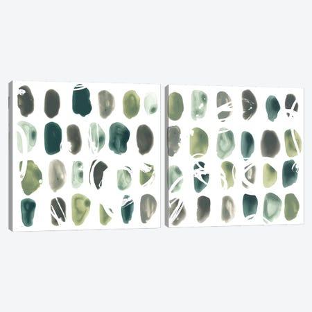 Rune Stone Diptych Canvas Print Set #JEV2HSET004} by June Erica Vess Canvas Print