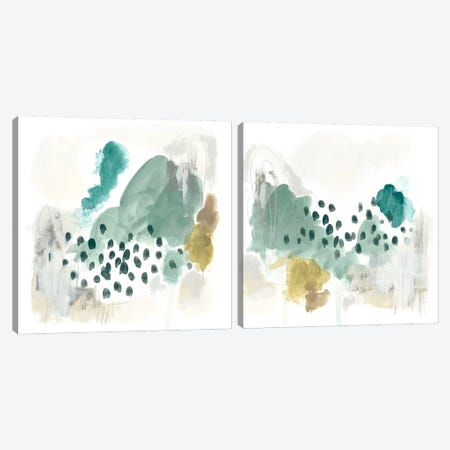 Rain Cloud Diptych Canvas Print Set #JEV2HSET006} by June Erica Vess Canvas Art Print