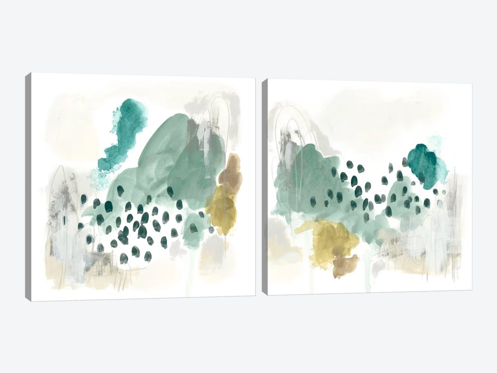 Rain Cloud Diptych by June Erica Vess 2-piece Art Print