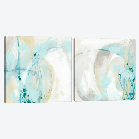 Sea Story Diptych Canvas Print Set #JEV2HSET007} by June Erica Vess Art Print