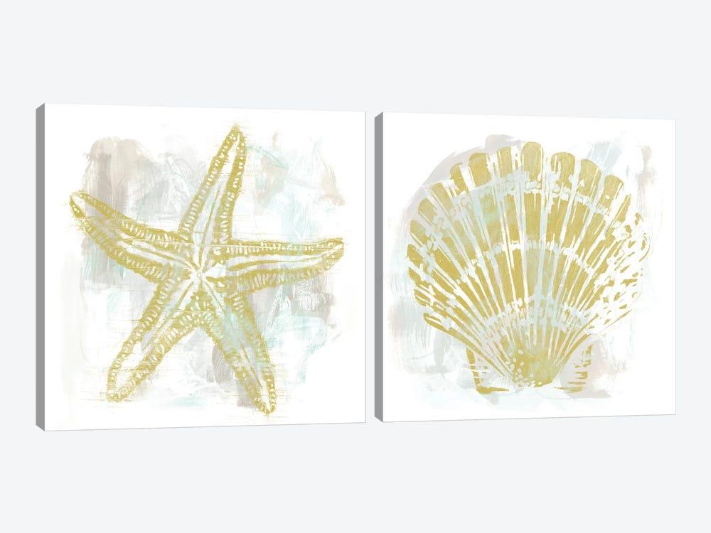 Seaside Blockprints Diptych by June Erica Vess 2-piece Canvas Art Print