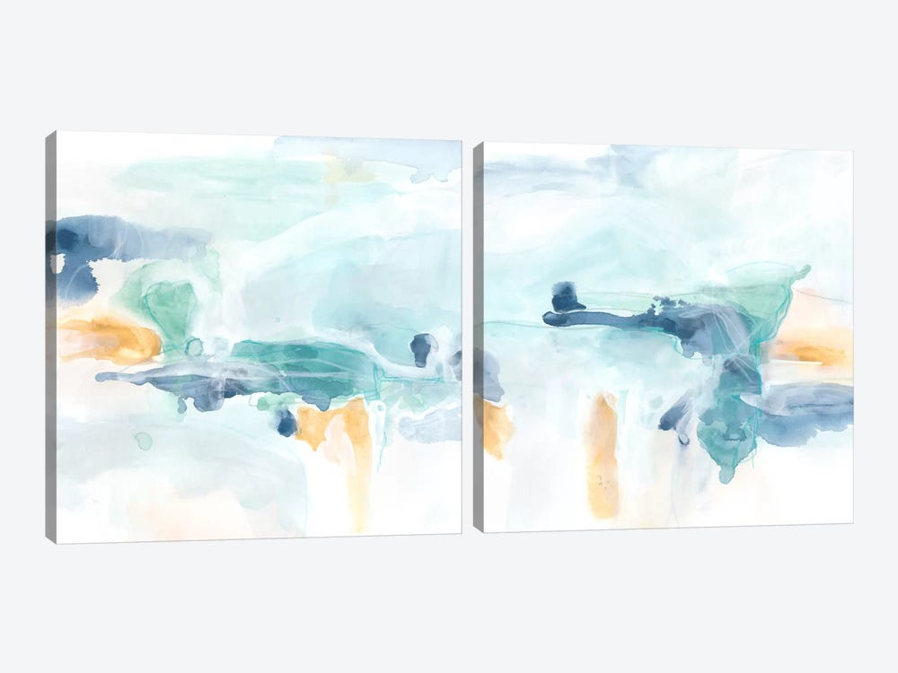 Liquid Vista Diptych by June Erica Vess 2-piece Canvas Art