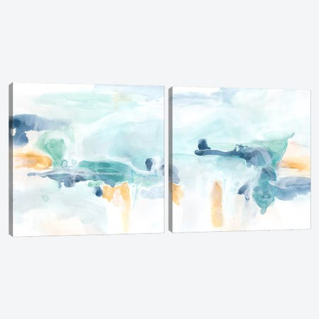 Liquid Vista Diptych Canvas Print Set #JEV2HSET010} by June Erica Vess Canvas Art Print