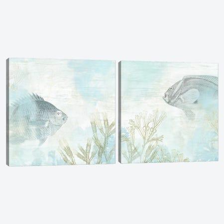 Coastal Fresco Diptych Canvas Print Set #JEV2HSET011} by June Erica Vess Canvas Art Print