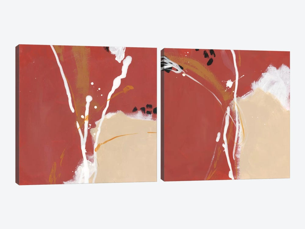 Molecular Dynamics Diptych by June Erica Vess 2-piece Canvas Wall Art