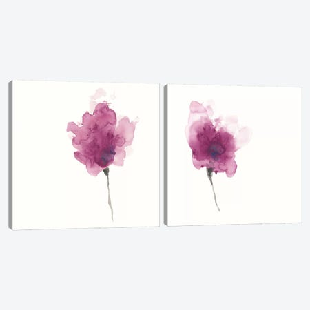 Expressive Blooms Diptych Canvas Print Set #JEV2HSET016} by June Erica Vess Canvas Artwork
