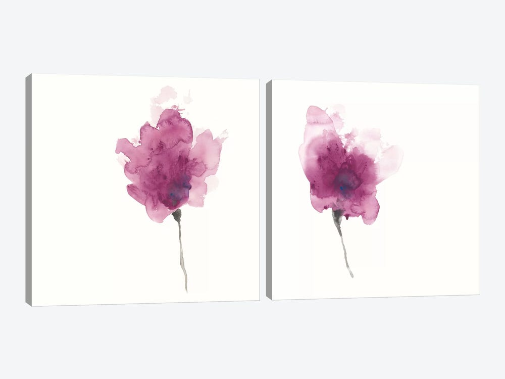 Expressive Blooms Diptych by June Erica Vess 2-piece Canvas Artwork