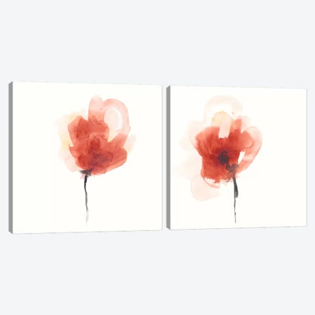 Expressive Blooms Diptych Canvas Print Set #JEV2HSET017} by June Erica Vess Canvas Wall Art