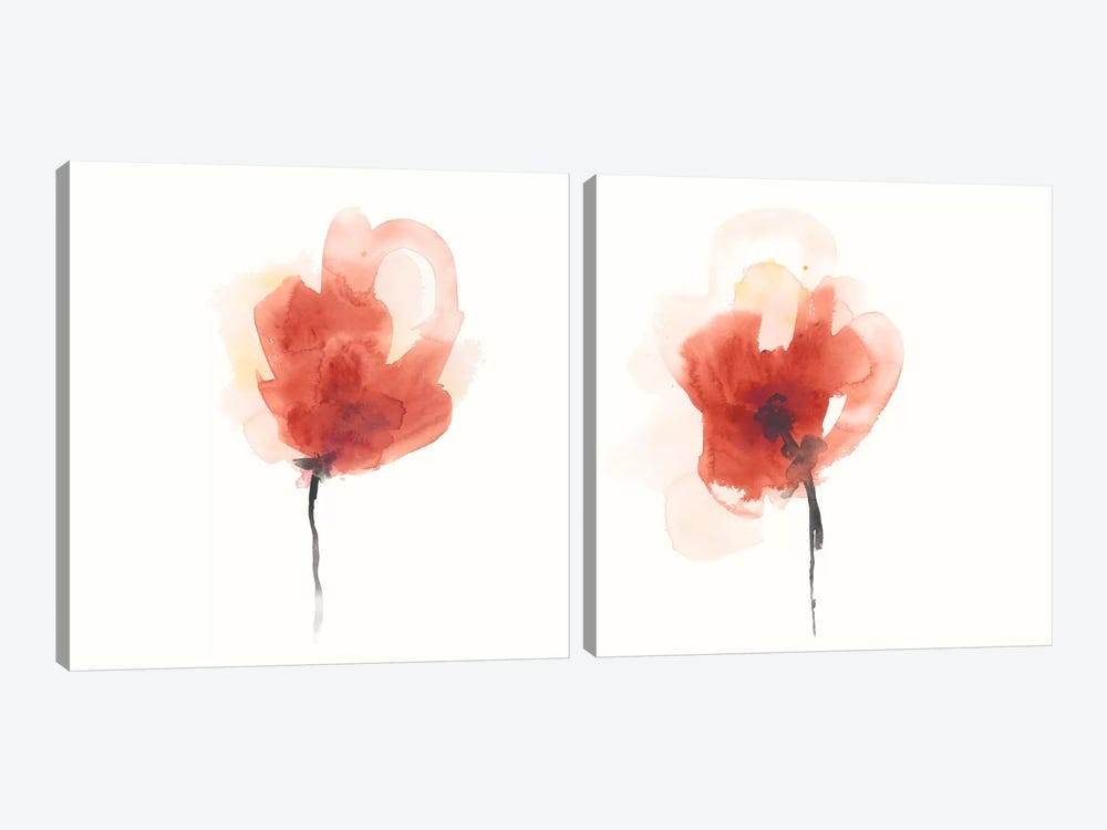 Expressive Blooms Diptych by June Erica Vess 2-piece Art Print
