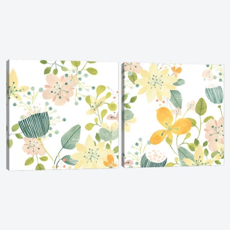 Garden Galore Diptych Canvas Print Set #JEV2HSET018} by June Erica Vess Art Print