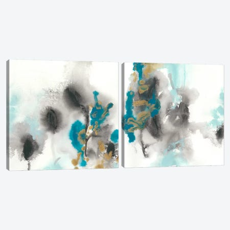 Cerulean Mirage Diptych Canvas Print Set #JEV2HSET022} by June Erica Vess Canvas Wall Art
