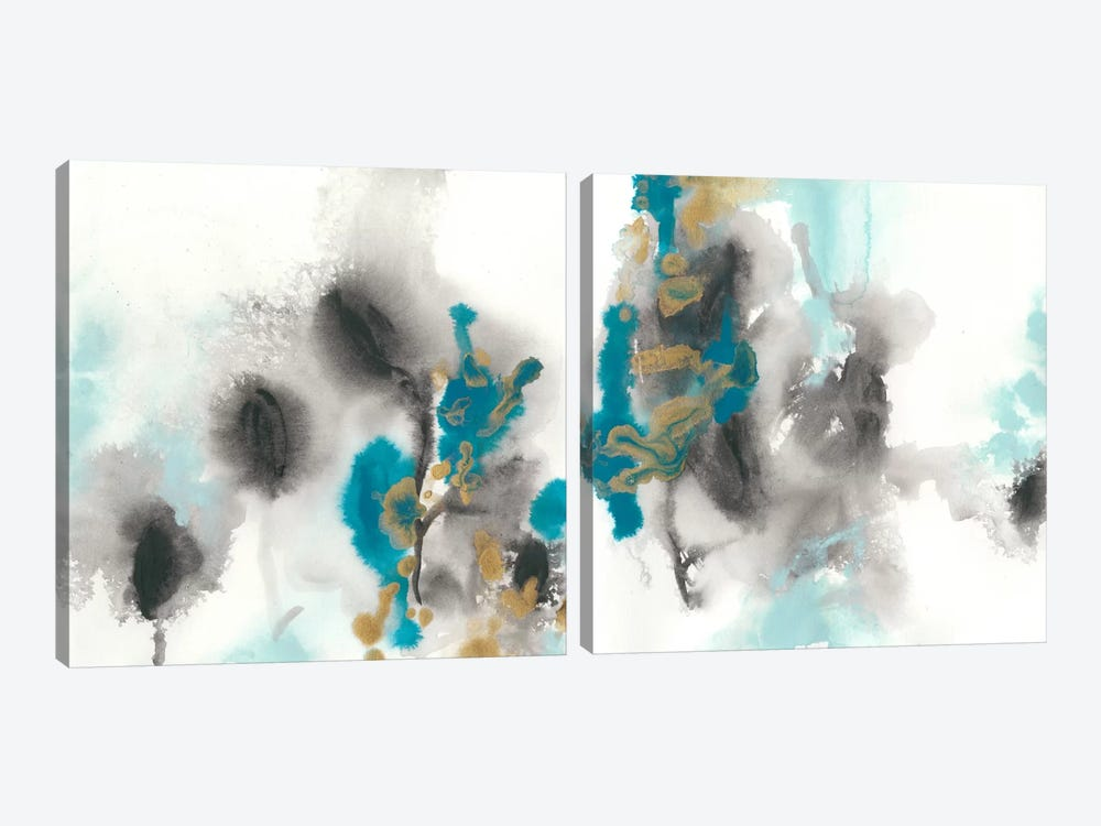 Cerulean Mirage Diptych by June Erica Vess 2-piece Art Print