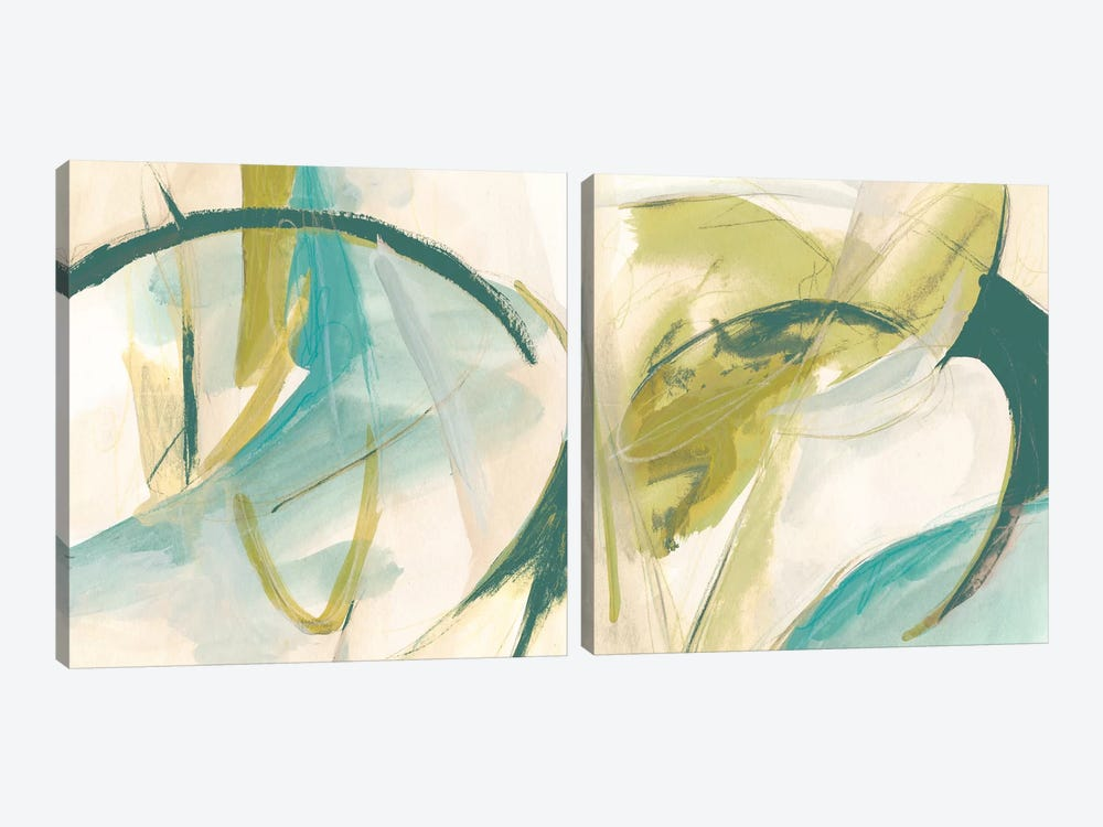 Vertigo Note Diptych by June Erica Vess 2-piece Canvas Wall Art