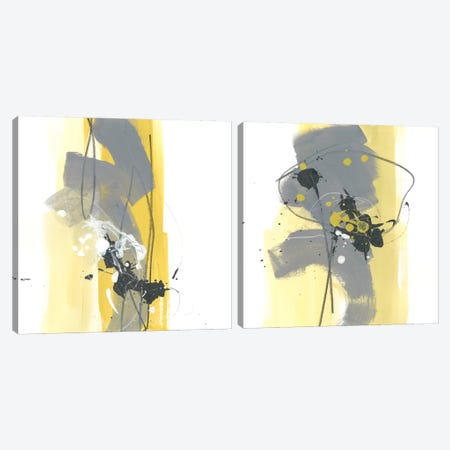 Catch Phrase Diptych Canvas Print Set #JEV2HSET030} by June Erica Vess Canvas Art Print