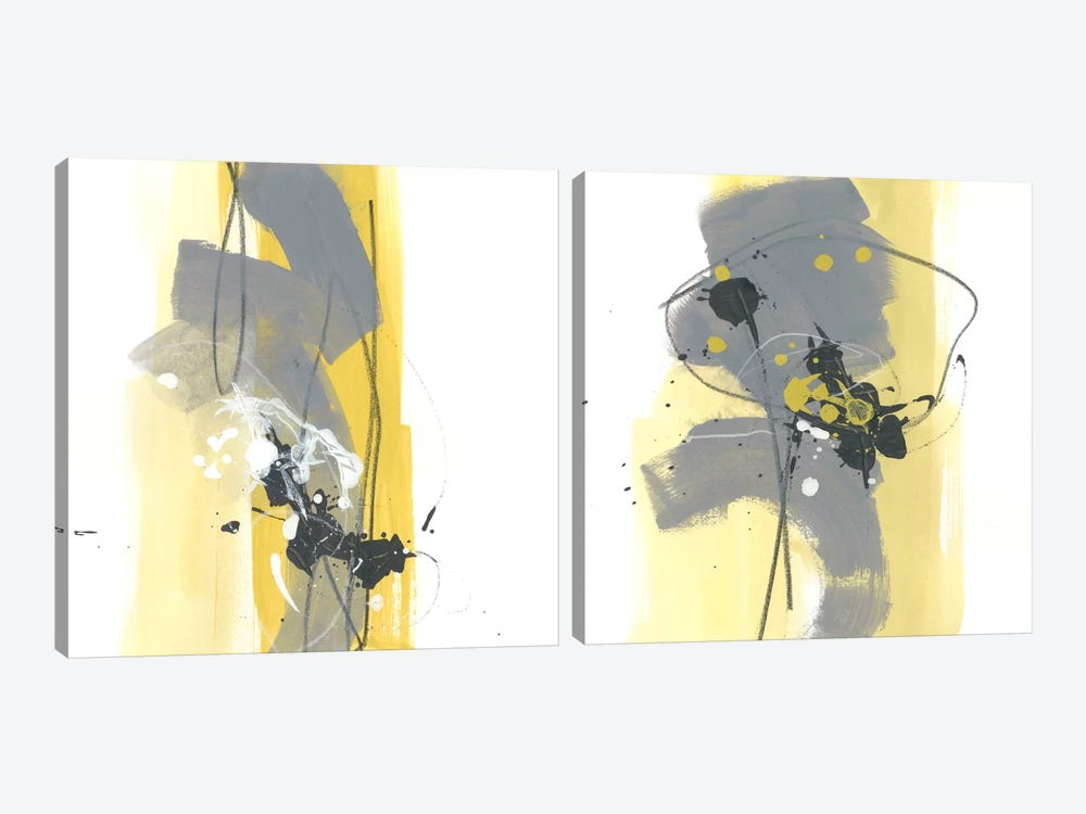 Catch Phrase Diptych by June Erica Vess 2-piece Canvas Art