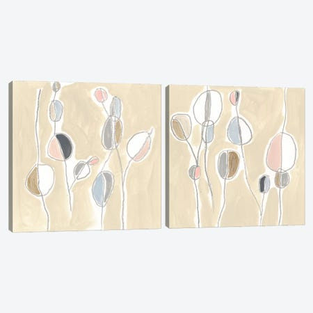 String Garden Diptych Canvas Print Set #JEV2HSET032} by June Erica Vess Art Print