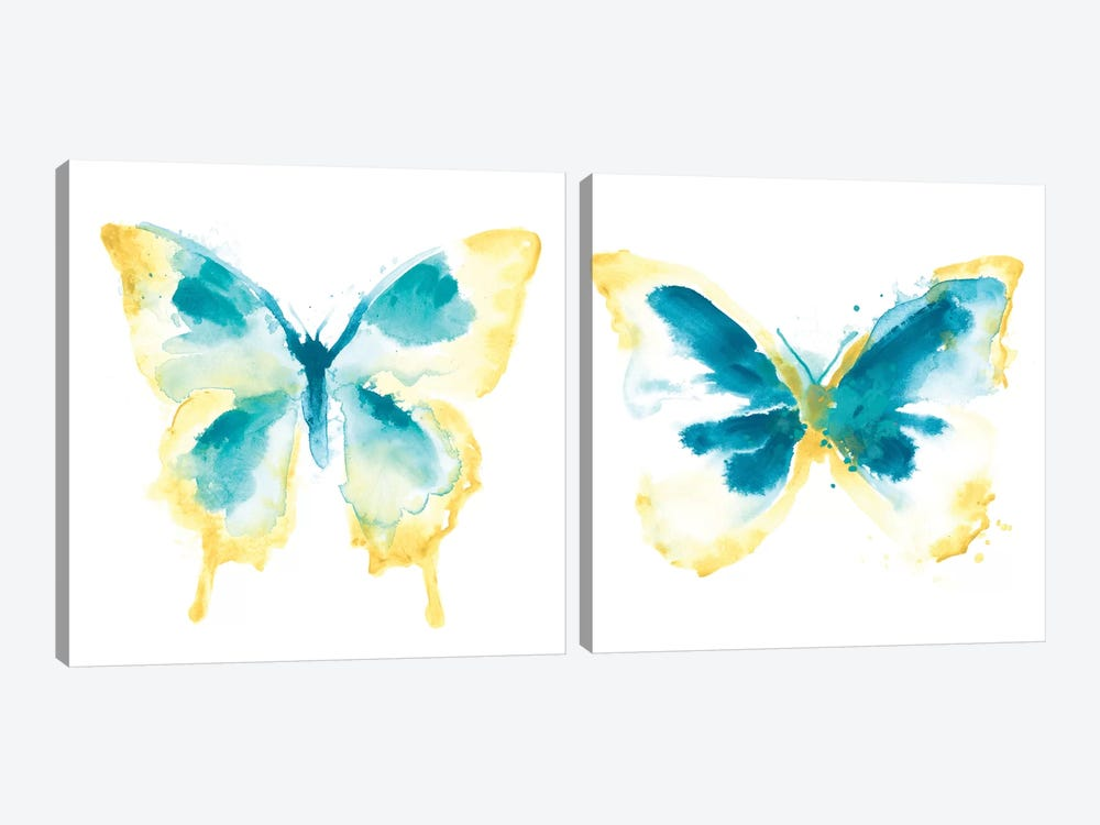 Butterfly Traces Diptych by June Erica Vess 2-piece Canvas Print