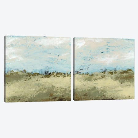 Green Fields Diptych Canvas Print Set #JEV2HSET034} by June Erica Vess Canvas Wall Art