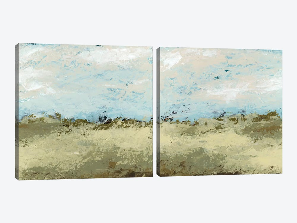 Green Fields Diptych by June Erica Vess 2-piece Canvas Wall Art