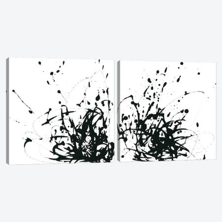 Onyx Expression Diptych Canvas Print Set #JEV2HSET037} by June Erica Vess Canvas Art