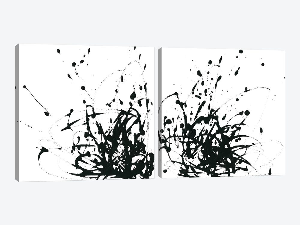 Onyx Expression Diptych by June Erica Vess 2-piece Canvas Art Print
