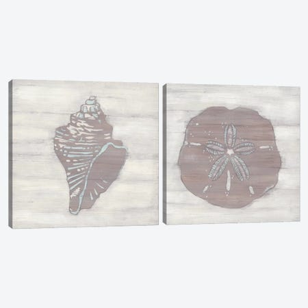 Driftwood Silhouette Diptych Canvas Print Set #JEV2HSET041} by June Erica Vess Canvas Artwork