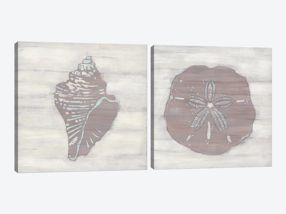 Driftwood Silhouette Diptych 2-piece Canvas Wall Art