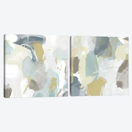 Mint Illusion Diptych Canvas Print Set #JEV2HSET042} by June Erica Vess Canvas Wall Art