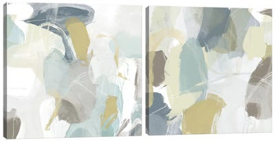 Mint Illusion Diptych Canvas Art Print