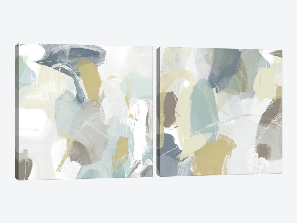 Mint Illusion Diptych by June Erica Vess 2-piece Canvas Art Print