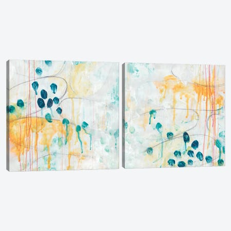 Momentum Diptych Canvas Print Set #JEV2HSET043} by June Erica Vess Canvas Wall Art
