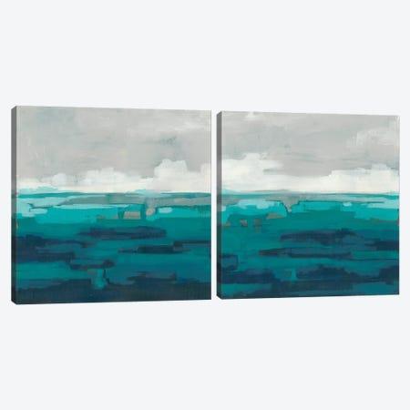Sea Foam Vista  Diptych Canvas Print Set #JEV2HSET044} by June Erica Vess Canvas Print