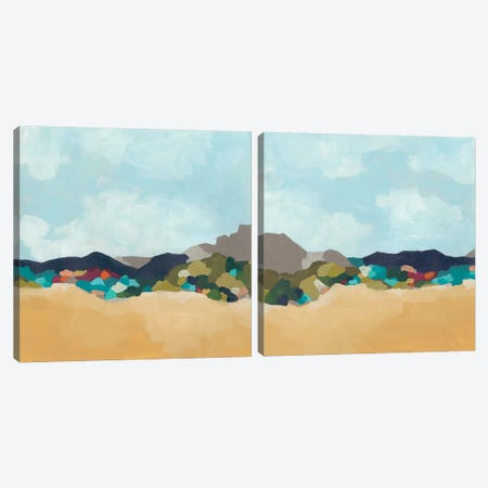 Patchwork Hillside Diptych Canvas Print Set #JEV2HSET051} by June Erica Vess Canvas Art Print