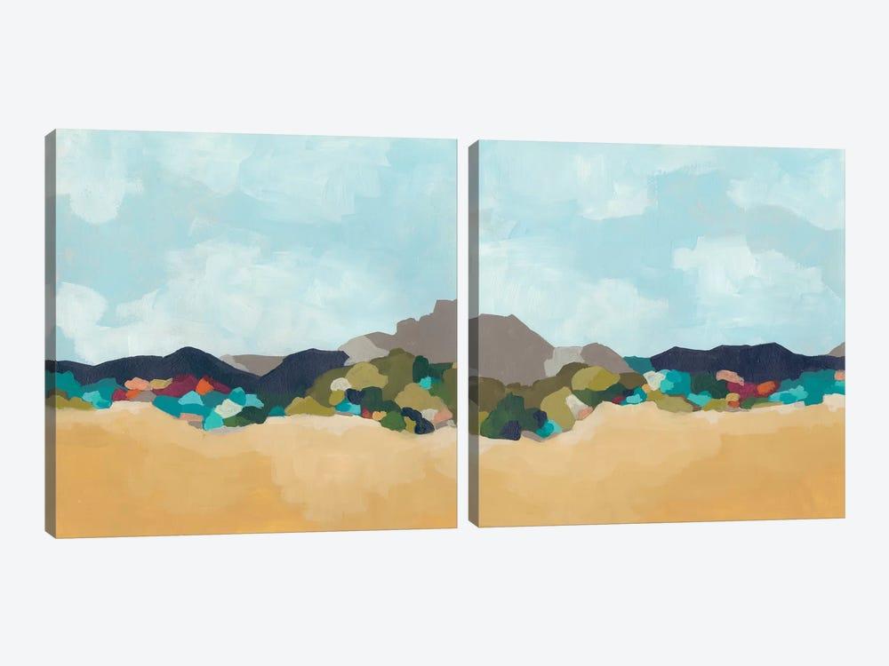 Patchwork Hillside Diptych by June Erica Vess 2-piece Canvas Art Print