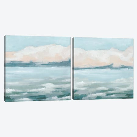Tidal Prose Diptych Canvas Print Set #JEV2HSET052} by June Erica Vess Canvas Print