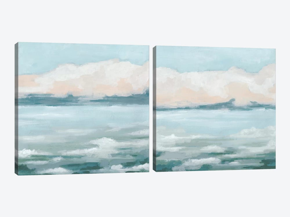 Tidal Prose Diptych by June Erica Vess 2-piece Canvas Artwork