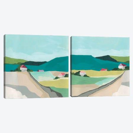 Farm Vista Diptych Canvas Print Set #JEV2HSET053} by June Erica Vess Canvas Art Print