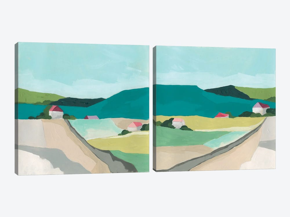 Farm Vista Diptych by June Erica Vess 2-piece Art Print