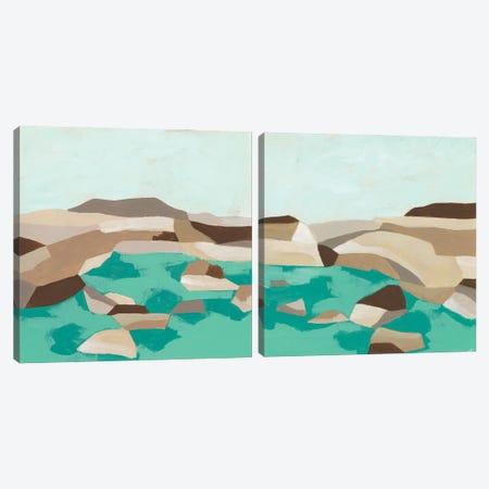 Geometric Shoals Diptych Canvas Print Set #JEV2HSET054} by June Erica Vess Canvas Wall Art