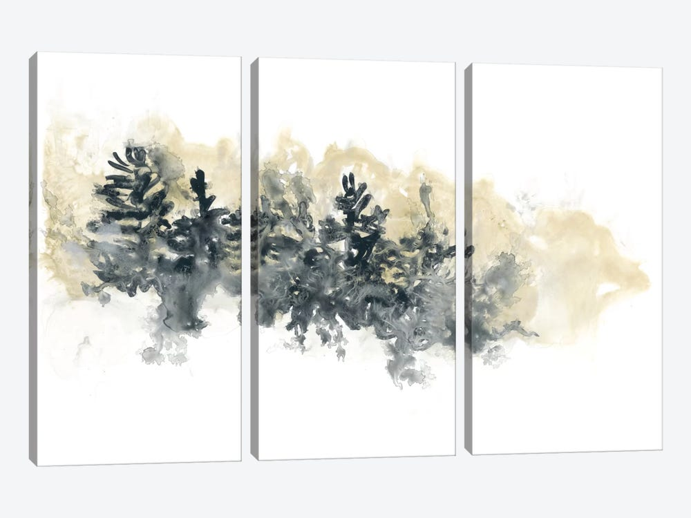 Misty Hillside I by June Erica Vess 3-piece Canvas Print