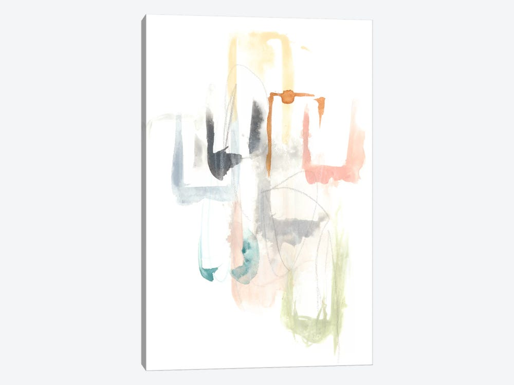Pastel Windows I by June Erica Vess 1-piece Canvas Art Print