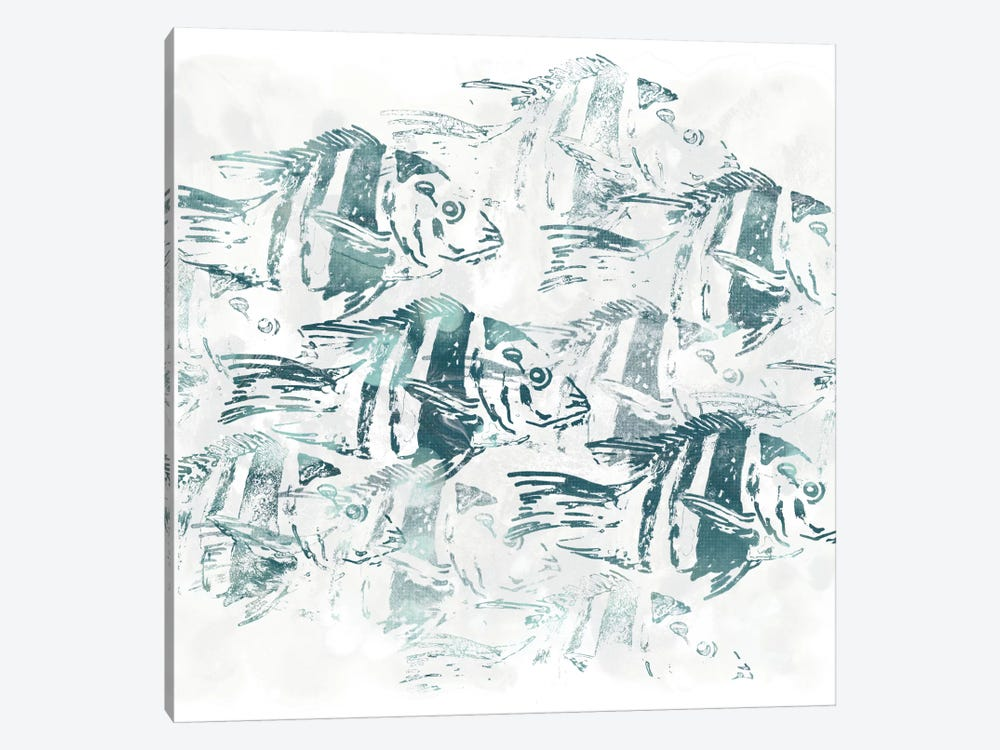 Sealife Batik I by June Erica Vess 1-piece Canvas Art
