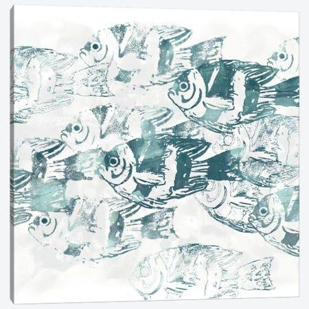 Sealife Batik III Canvas Print #JEV324} by June Erica Vess Canvas Art