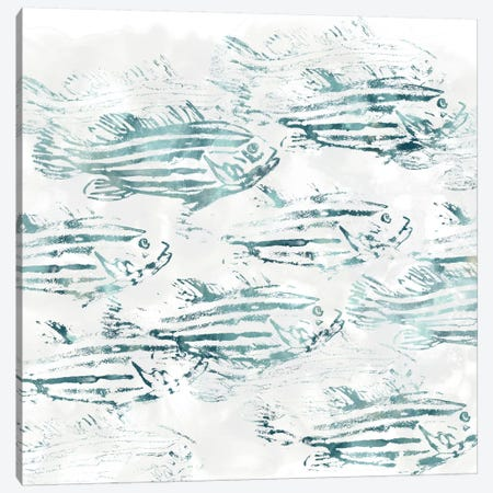 Sealife Batik IV Canvas Print #JEV325} by June Erica Vess Canvas Art