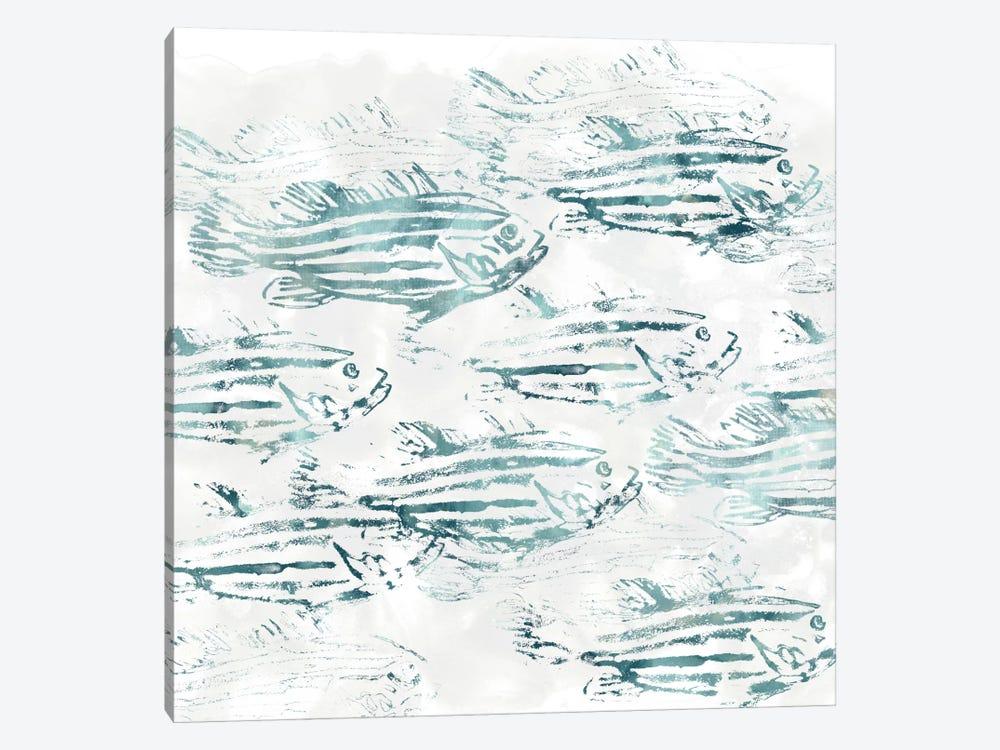Sealife Batik IV by June Erica Vess 1-piece Canvas Art Print