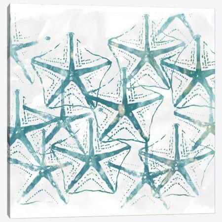 Sealife Batik V Canvas Print #JEV326} by June Erica Vess Canvas Artwork