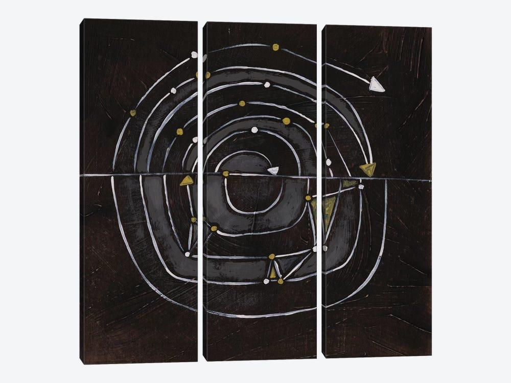 Algorithm IX by June Erica Vess 3-piece Canvas Art Print