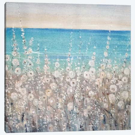 Flowers by the Sea I Canvas Print #JEV330} by Tim OToole Canvas Art