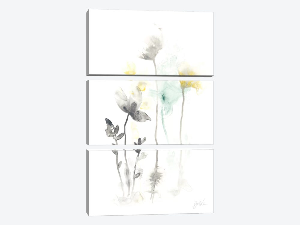 Stem Illusion II by June Erica Vess 3-piece Canvas Art Print